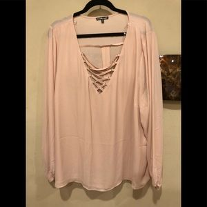 Charlotte Russe blush pink top
